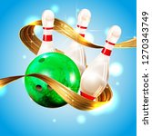 bowling  abstract background ... | Shutterstock .eps vector #1270343749