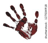 black and maroon handprint on a ...   Shutterstock .eps vector #127034918