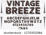 font typeface handcrafted...   Shutterstock .eps vector #1270352086