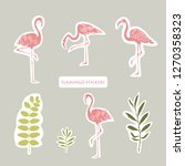 vector objects. flamingos and...   Shutterstock .eps vector #1270358323