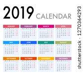calendar for 2019 on white... | Shutterstock .eps vector #1270364293