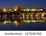 view of the hradcany  prague  ... | Shutterstock . vector #127036760