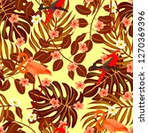 tropical seamless pattern with... | Shutterstock .eps vector #1270369396