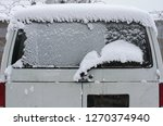 the minibus is covered with a... | Shutterstock . vector #1270374940