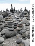 infinitely stacked stones and... | Shutterstock . vector #1270383589