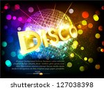 vector disco background with...