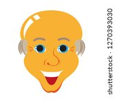 flat icons on theme funny bald... | Shutterstock .eps vector #1270393030