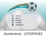 soccer european cup. team group ...   Shutterstock .eps vector #1270395283