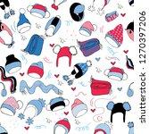 winter seamless pattern.endless ... | Shutterstock .eps vector #1270397206