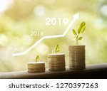growth in 2019 year concept.... | Shutterstock . vector #1270397263