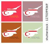 northern cyprus region map ... | Shutterstock .eps vector #1270399369