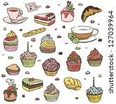 illustration of delicious... | Shutterstock .eps vector #127039964