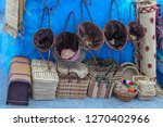 shopping in blue city... | Shutterstock . vector #1270402966