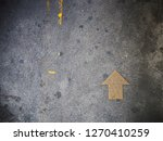 yellow arrow direction on the... | Shutterstock . vector #1270410259