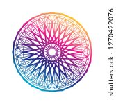 round gradient mandala on white ... | Shutterstock .eps vector #1270422076