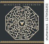 maze enigma. vector labyrinth... | Shutterstock .eps vector #1270436353