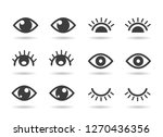 eyes and eyelashs icons. open... | Shutterstock .eps vector #1270436356