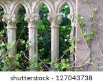 Gray Pillars And Green Ivy In ...