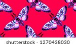 seamless pattern. dead head... | Shutterstock .eps vector #1270438030