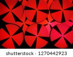 red circles on black background ... | Shutterstock . vector #1270442923