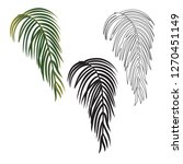 exotic tropical palm leaf... | Shutterstock .eps vector #1270451149