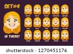 flat cartoon little girl with... | Shutterstock .eps vector #1270451176