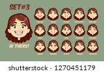 flat cartoon little girl with... | Shutterstock .eps vector #1270451179
