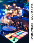 dj plays live set and mixing... | Shutterstock . vector #1270456546