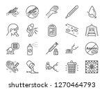 dengue fever line icon set.... | Shutterstock .eps vector #1270464793