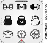 dumbbell for gym icon  symbol...
