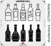 bottle vector icon  for mobile...   Shutterstock .eps vector #1270465906