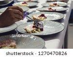 closeup of chef preparing tasty ...   Shutterstock . vector #1270470826