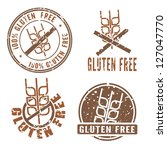 gluten free stamps with cereal... | Shutterstock .eps vector #127047770