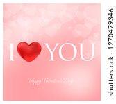 valentines day vector... | Shutterstock .eps vector #1270479346