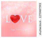 valentines day vector... | Shutterstock .eps vector #1270487593