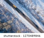 cars on road in winter with...   Shutterstock . vector #1270489846