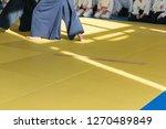 people in kimono on martial...   Shutterstock . vector #1270489849