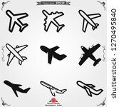 plane icon on white background  ... | Shutterstock .eps vector #1270495840