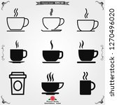 coffee cup icon. coffee drink... | Shutterstock .eps vector #1270496020