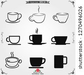 coffee cup icon. coffee drink...   Shutterstock .eps vector #1270496026