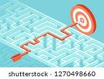 vector concept for business... | Shutterstock .eps vector #1270498660