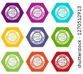 metal heater icons 9 set... | Shutterstock . vector #1270512913