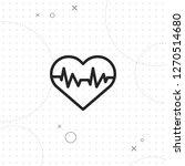 heart rhythm icon  vector best... | Shutterstock .eps vector #1270514680