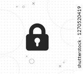 lock vector best flat icon on...   Shutterstock .eps vector #1270520419