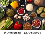 a background of fresh fruits... | Shutterstock . vector #1270525996