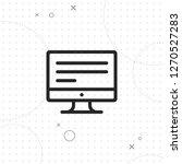 monitor  screen vector best...   Shutterstock .eps vector #1270527283