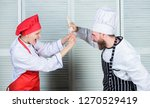 couple compete in culinary arts.... | Shutterstock . vector #1270529419