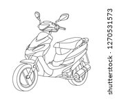 moto black outline illustration ... | Shutterstock .eps vector #1270531573