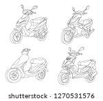 moto black outline illustration ... | Shutterstock .eps vector #1270531576