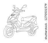 moto black outline illustration ... | Shutterstock .eps vector #1270531579